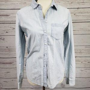 Gap Icon Boy Shirt in White Haze